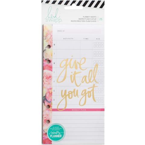Внутренний блок для ежедневника Heidi Swapp Personal Memory Planner Inserts - 10х18 см -Meal & Exercise