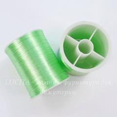 Нить металлизированная для вышивки бисером, 0,1 мм, цвет - бледно-зеленый, примерно 55 м