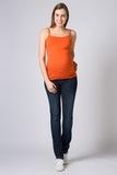 Майка для беременных 00554 оранжевый