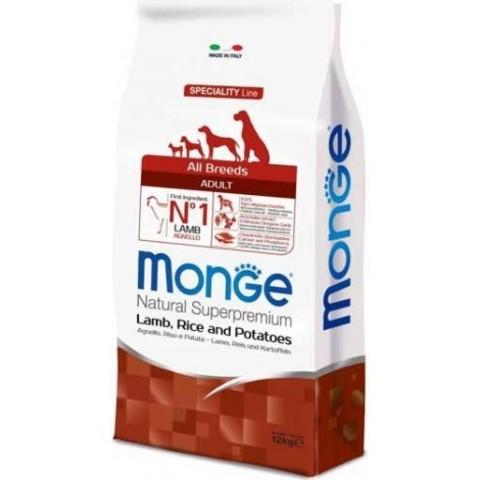 Корм для взрослых собак Monge Speciality Line – Ягненок с рисом и картофелем 15 кг