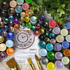 Полная палитра цветов, 35 оттенков, объем 20 мл, лаковые краски, оттенки металлик