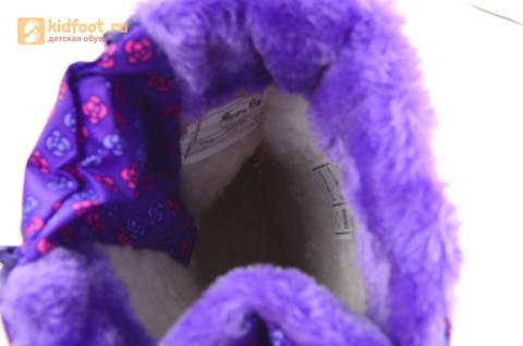 Зимние сапоги для девочек непромокаемые с резиновой галошей Свинка Пеппа (Peppa Pig), цвет сиреневый, Water Resistant. Изображение 15 из 15.