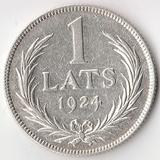 K5464, 1924, Латвия, 1 лат Ag-835, 5 gr.