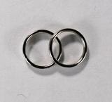 Кольцо двойное, 8 мм, покрытие - никель, 5 шт.
