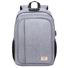 Рюкзак c USB и кодовым замком GoldenWolf GB00376 Серый