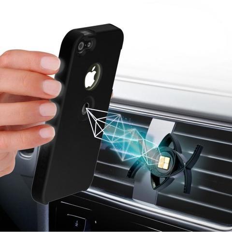 Автомобильный держатель телефона TETRAX SMART + чехол для IPhone 5/5S черный