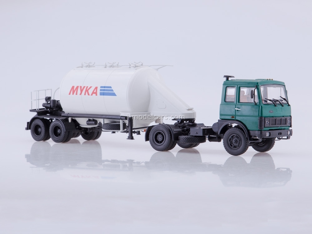 MAZ-5432 green with semitrailer ASP-25 1:43 AutoHistory