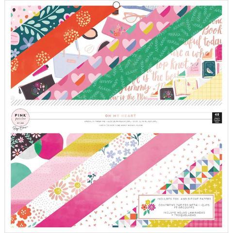 Набор односторонней бумаги 30х30 см - коллекция Oh My Heart- Pink Paislee -48 л.