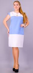 Эдита. Женское платье больших размеров. Голубой