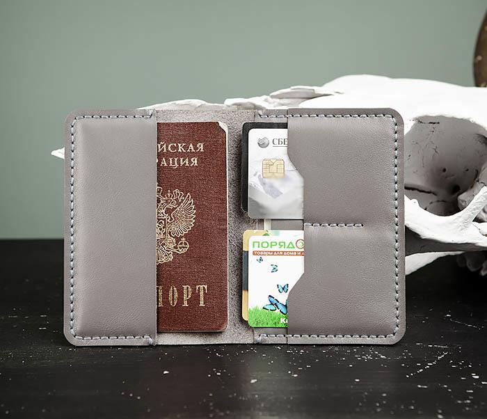 WB177 Обложка ручной работы для паспорта и карточек фото 01