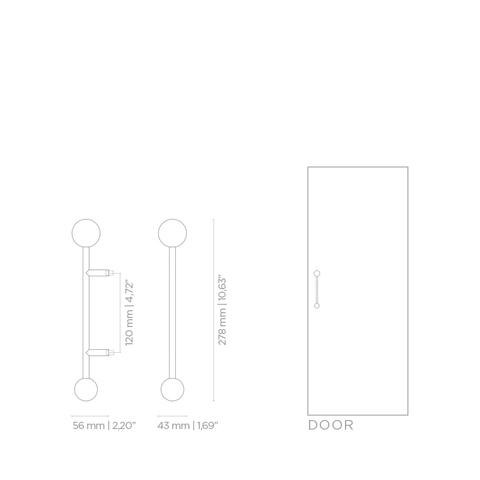 Мебельная ручка PullCast QUANTUM TW5005