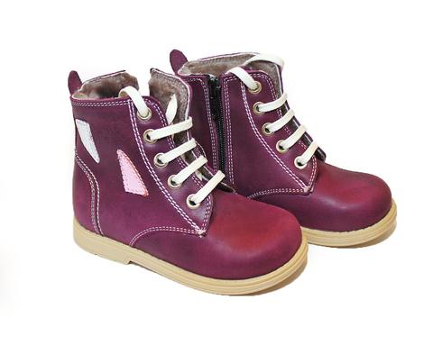 Ортопедические профилактические зимние ботинки 516 фиол