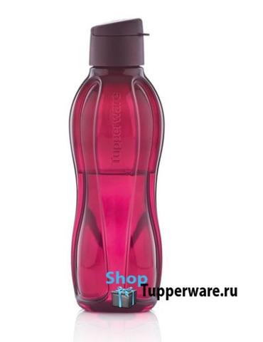 эко-бутылка 750мл в цвете бордо с клапаном