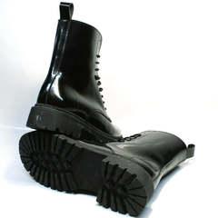 Черные высокие женские ботинки на толстой подошве зимние Ari Andano 740 All Black.