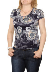 A7-3 блузка женская, темно-синяя
