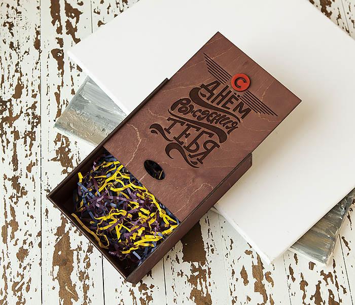 BOX229-3 Подарочная деревянная коробка для именинника (18*26*7,5 см) фото 04