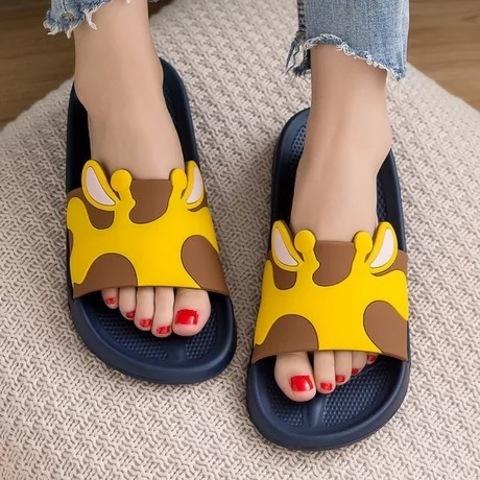 Тапочки жираф желтые