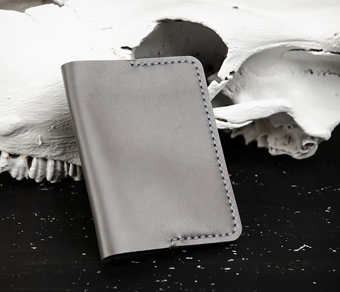 WB177 Обложка ручной работы для паспорта и карточек фото 03