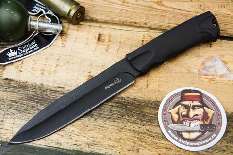 Тактический нож Ворон-3 с Кожаным Чехлом
