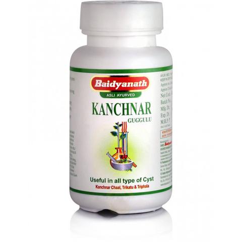 Канчнар Гуггул средство для эндокринной системы (Kanchnar guggul) Baidyanath, 80 таблеток