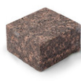 Гранитная брусчатка Балтийское коричневая 100*100*50 Колотая