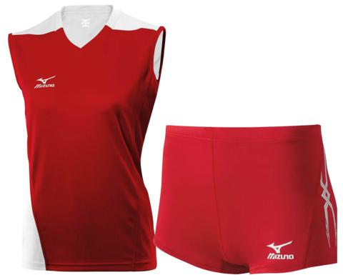 Волейбольная форма Mizuno Premium Trade женская красная 14-15