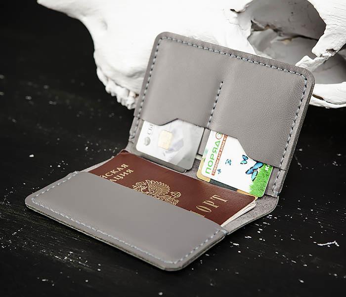 WB177 Обложка ручной работы для паспорта и карточек фото 06