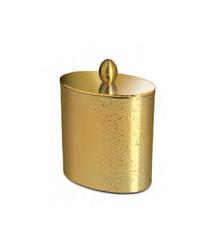 Емкость для косметики Windisch 88307O Oval Gold