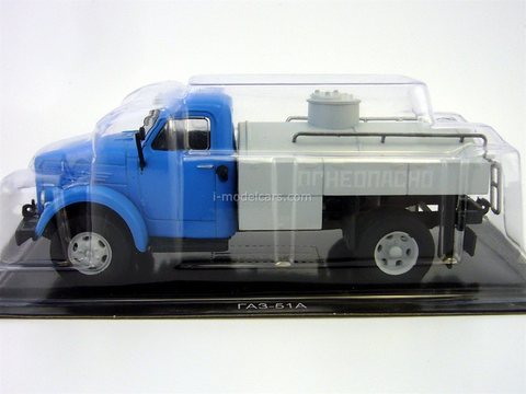 GAZ-51A fuel truck blue-gray 1:43 DeAgostini Auto Legends USSR Trucks #4