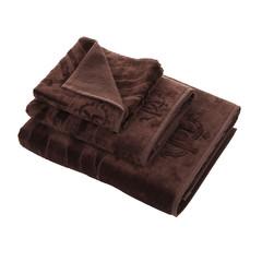 Полотенце 100х150 Roberto Cavalli Zebrona коричневое