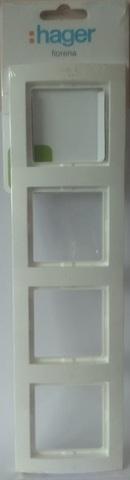 арт.22011912 Рамка на 4 розетки, цвет-белый