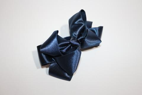 Бант атласный синий (арт.1005 син)