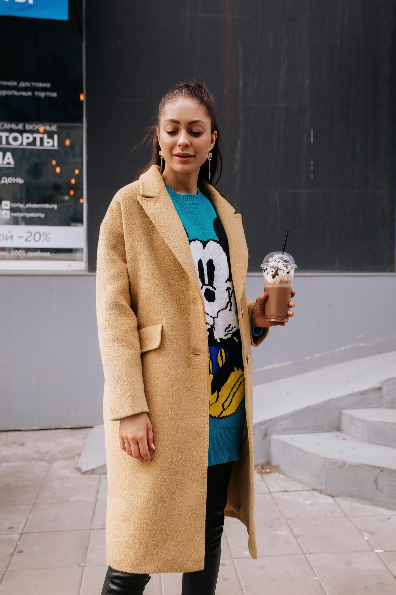Пальто прямого кроя на подкладе Lemon Tree