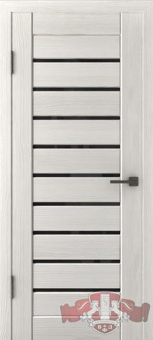 Дверь Л3ПГ5 стекло черное (беленый дуб, остекленная экошпон), фабрика Владимирская фабрика дверей