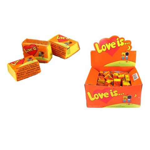 LOVE IS жевательная резинка Апельсин и Ананас 20х1 (100*4,2г)