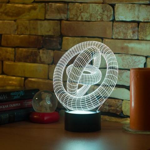 3D лампа Абстракция #1