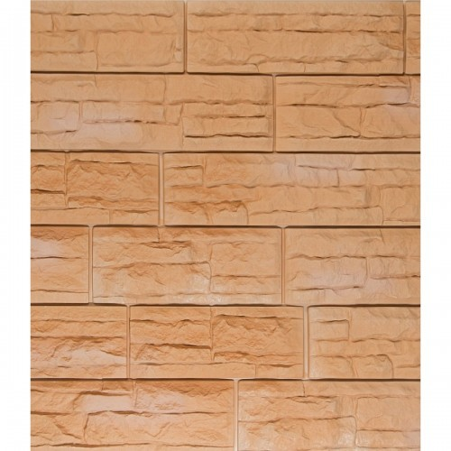 Фасадные панели (Цокольный Сайдинг) Доломит Скалистый Риф Премиум Терракотовый