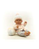 Вязаный жакет и шапочка с помпоном - На кукле. Одежда для кукол, пупсов и мягких игрушек.