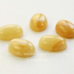 Кабошон овальный Агат желтый, 18х13х6 мм