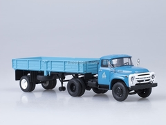 ZIL-130V1 and semitrailer ODAZ-885 blue Start Scale Models (SSM) 1:43