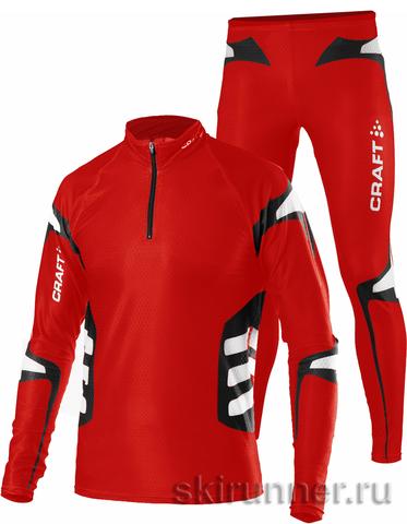 Элитный Лыжный гоночный комбинезон Craft Shark Red