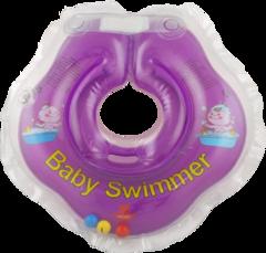 Baby-Krug. Детский круг для купания на шею, 0-24 мес фиолетовый (полуцвет)
