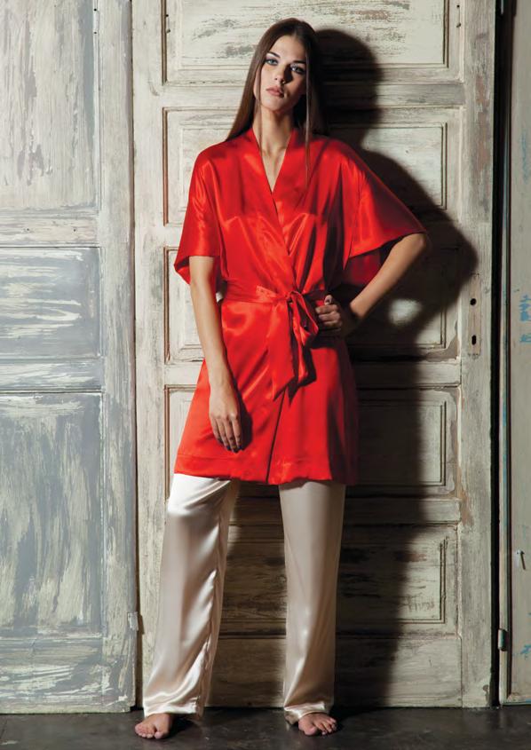 Шелковый халат кимоно Verdiani