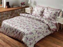 Постельное белье  FLORAL лиловый  TIVOLYO HOME Турция