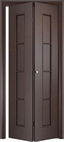 Дверь складная Верда С-14 (2 полотна), цвет венге, глухая
