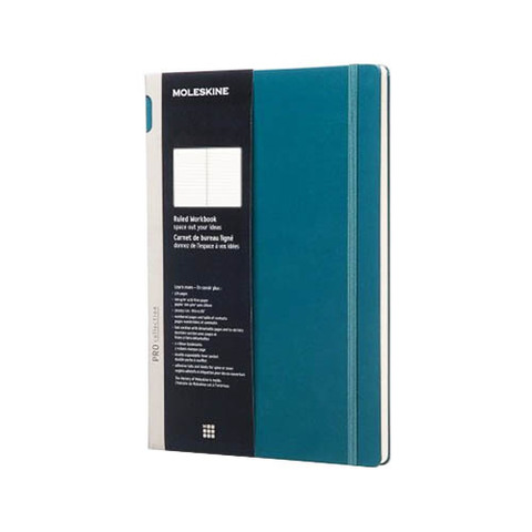 Блокнот Moleskine Workbook А4 Линейка Шалфей