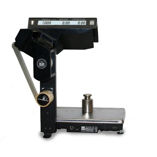 Весы печатающие торговые Масса-К ВПМ-Т1 с устройством подмотки ленты 001