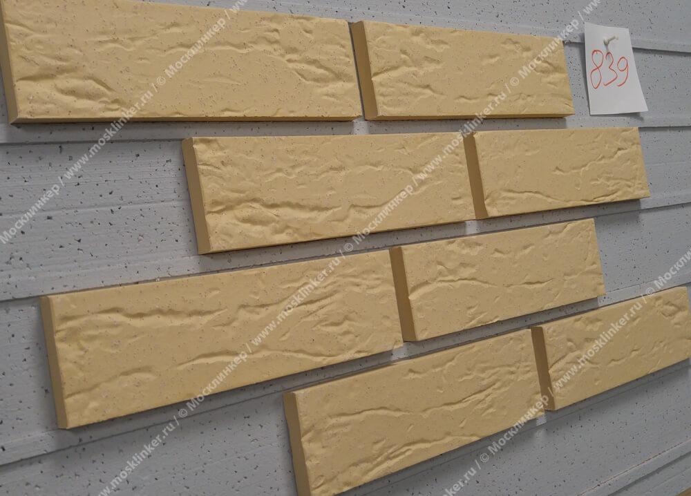 Клинкерная плитка Roben, Rimini, цвет желтый пестрый (gelb-bunt), мерейная (genarbt)