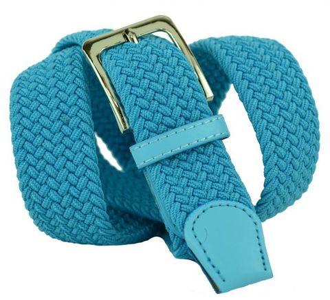 Ремень-резинка текстильный голубой 35 мм 35Rezinka-102