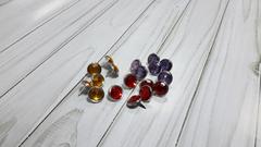 Брадсы с камнем в серебряной оправе, металл, 1 шт.
